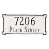 Montague Metal Products Inc. New Yorker 2-Line Wall Address Plaque