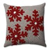 Darby Home Co Farrier Snowflakes 100% Cotton Throw Pillow