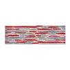 Pedrini LifeStyle-Mat Waterfall Red/Grey/Beige Runner