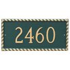 Montague Metal Products Inc. Franklin 1-Line Wall Address Plaque