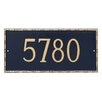 Montague Metal Products Inc. Lincoln 1-Line Wall Address Plaque