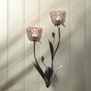 Zingz & Thingz Iron and Glass Sconce
