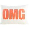 "Alexandra Ferguson Modern Lexicon ""OMG"" Throw Pillow"