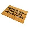 Artsy Doormats Loud Music Doormat