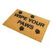 Artsy Doormats Wipe Your Paws Doormat