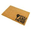 Artsy Doormats You are Here Doormat