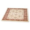 Rugstack Pasha Ivory/Red Area Rug