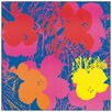 Castleton Home 'Flowers, 1970' by Andy Warhol Graphic Art