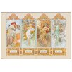 Castleton Home '4 Seasons' by Alphonse Mucha Art Print