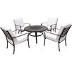 Royal Craft Versailles 4 Seater Dining Set with Cushions