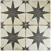 "EliteTile Royalty 17.63"" x 17.63"" Ceramic Patterned/Field Tile in Beige/Gray"