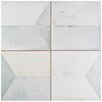 "EliteTile Geamenti 17.58"" X 17.58"" Ceramic Patterned/Field Tile in Beige/Gray"