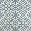 """EliteTile Alameda 17.63"""" X 17.63"""" Ceramic Patterned/Field Tile in Spruce Blue"""