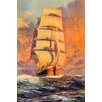 Marmont Hill Smooth Sailing Art Print Wrapped on Canvas