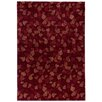 Castleton Home Autumn Leaves Red Area Rug
