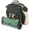 Greenfield Deluxe Picnic Backpack Hamper for Two People with Picnic Blanket