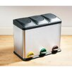 Castleton Home 45L Recycle Pedal Bin with 3 Compartments