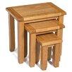 Hallowood Furniture Monchique 3 Piece Nest of Tables