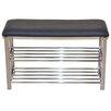 dCor design Gepolsterte Garderobenbank mit Stauraum aus Metall