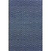 Dash & Albert Europe Diamond Hand-Woven Navy blue Indoor/Outdoor Area Rug