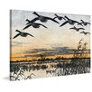 Marmont Hill 'Geese in Flight' by Marmont Hill Framed Wall Art on Canvas