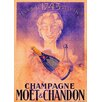 LivCorday Moet and Chandon Vintage Advertisement Wrapped on Canvas