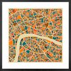 Metro Lane 'London Map' by Jazzberry Blue Framed Graphic Art
