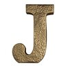 """Cheungs Metal """"J"""" with Hammered Accents Wall Décor"""