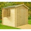 dCor design Roncade 7 x 7 Wooden Log Cabin
