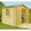 dCor design Rossano 9 x 9 Wooden Log Cabin