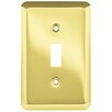 Franklin Brass Stamped Round Single Switch Wall Plate