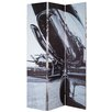 Castleton Home 180cm x 120cm Digital Printed 3 Panel Room Divider