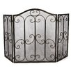 Ambiente Haus 3 Panel Iron Fireplace Screen