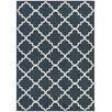 Charlton Home Hanley Navy Blue & White Area Rug
