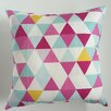 Collier Sun Triangle Throw Pillow