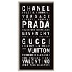 Artist Lane 'Fashion' by Tram Scrolls Framed Typography on Wrapped Canvas