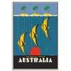 Artist Lane 'Great Barrier Reef' Framed Vintage Advertisement on Wrapped Canvas