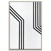 Artist Lane 'Geometric 11' by Chalie MacRae Framed Art Print on Wrapped Canvas
