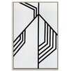 Artist Lane 'Geometric 12' by Chalie MacRae Art Print Wrapped on Canvas
