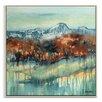 Artist Lane 'Mountain Secrets' by Lydia Ben-Natan Framed Art Print on Wrapped Canvas