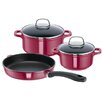 Rohe Germany Red Passion 3-Piece Stainless Steel Cookware Set
