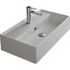 "Scarabeo by Nameeks Teorema 24"" Wall Mounted Bathroom Sink with Overflow"