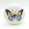 G Decor Colourful Butterfly Mushroom Knob (Set of 2)