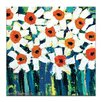 Artist Lane 'Darcy's Daisies' by Anna Blatman Art Print on Wrapped Canvas