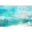 Parvez Taj Aqua Surf Art Print Wrapped on Canvas
