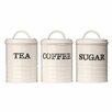 Castleton Home 3-Piece Sketch Tea, Coffee and Sugar Canister Set