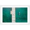 Marmont Hill Floating Blue Boat by Karolis Janulis Framed Photographic Print