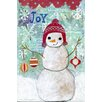 "Marmont Hill ""Joy Snowman"" by Jill Lambert Art Print Wrapped on Canvas"