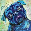 Marmont Hill Pug' by Stephanie Gerace Art Print Wrapped on Canvas