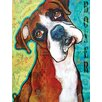 Marmont Hill 'Boxer Pop' by Stephanie Gerace Graphic Art Wrapped on Canvas